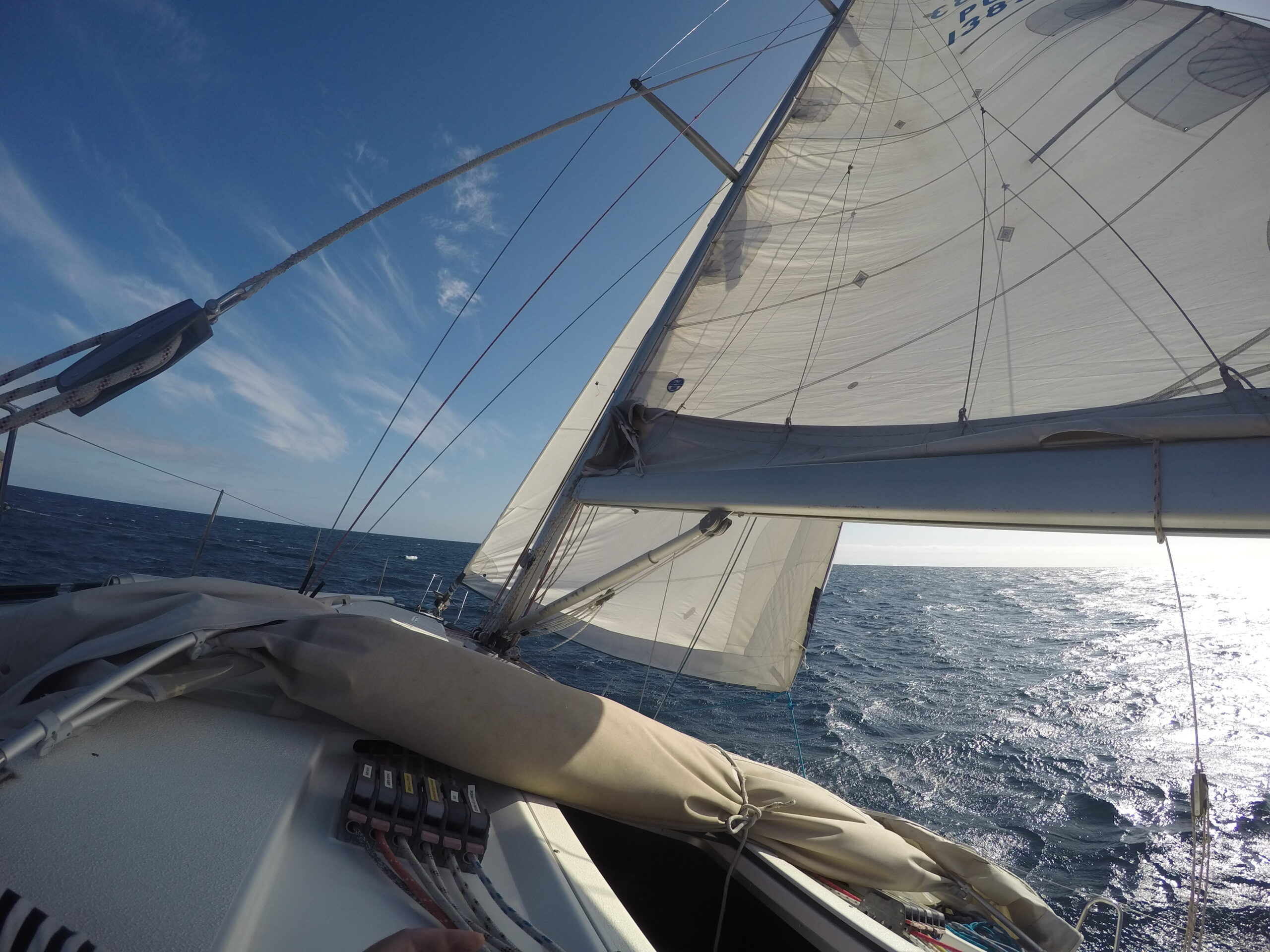 Picture of sail boat sails