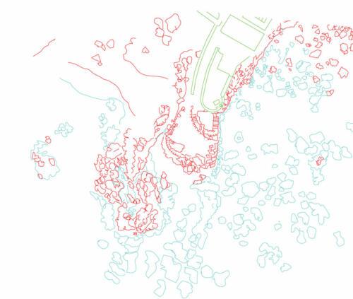 Lazareto site, hand trace map