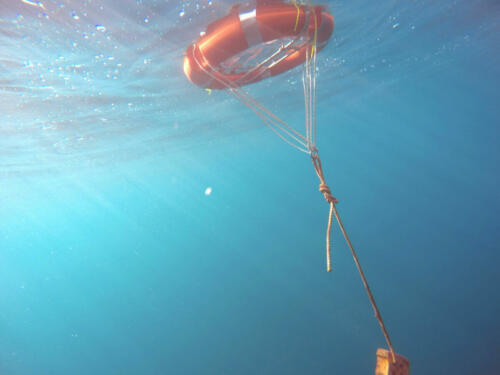 buoy during deployment